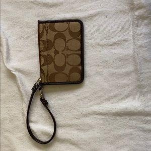 coach card holder wristlet